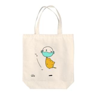 にゅーん Tote bags