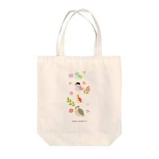 コトリさんバック_4C Tote bags