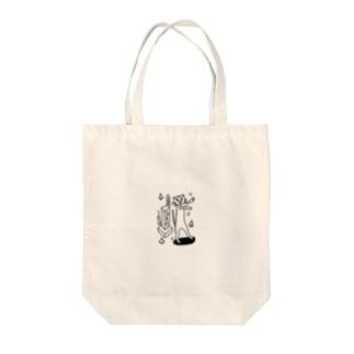 はよしねにゃん(シロクロ) Tote bags