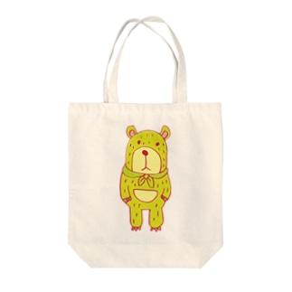 みどりのくま Tote bags