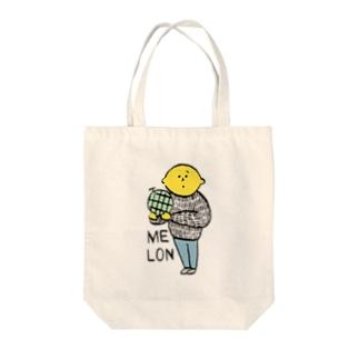 LEMON color Tote bags