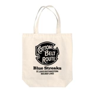 Cotton Belt Route Tote bags