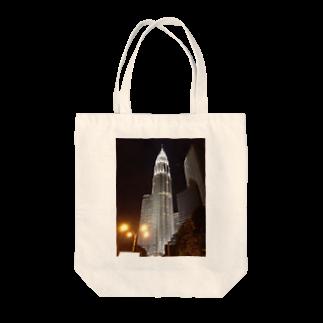 高橋賢司のペトロナスツインタワー Tote bags