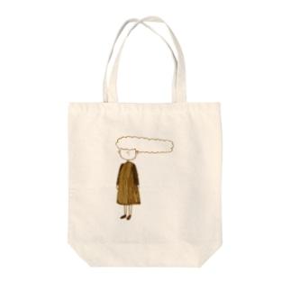 『なびかせ少女』 Tote bags