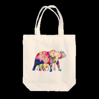 サトウレイナのゾウの親子トートバッグ