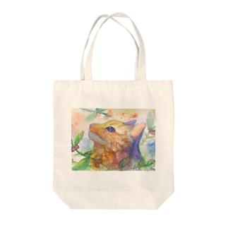動物横顔シリーズ ヤマネコ Tote bags