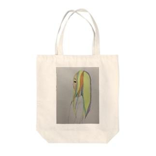 泣き虫女の子 Tote bags