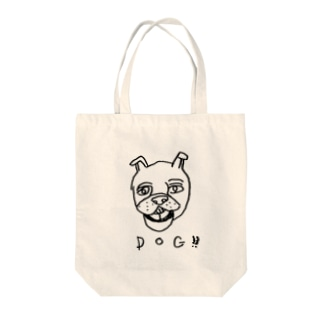 Dog!! Tote bags