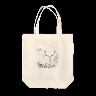 北川ともあき OnlineのDEER IN A FOREST Tote bags