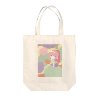 銀猫@絵垢+ご依頼受付中のマカロン好きな女の子 Tote bags