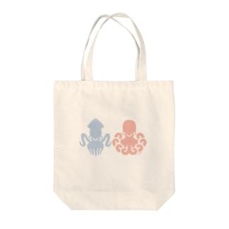 イカタコ Tote bags