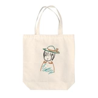 はっぱちゃん Tote bags