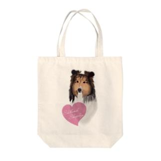 Shetland Sheepdog(シェルティ) Tote bags