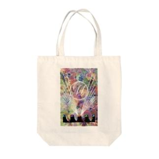 サイケデリック・鶏 Tote bags