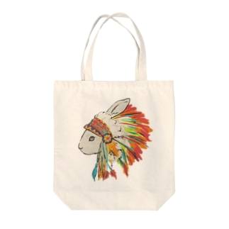 羽飾りのうさぎ Tote bags