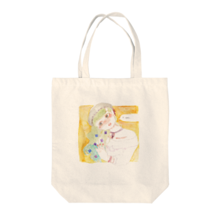 紫陽花イラストレーター オカサヤカ グッズショップの『謎解き』©️オカ サヤカ Tote bags