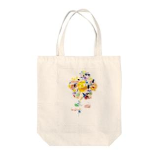 虹色の花 Tote bags