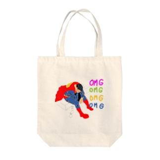 落ち込むヒーロー Tote bags