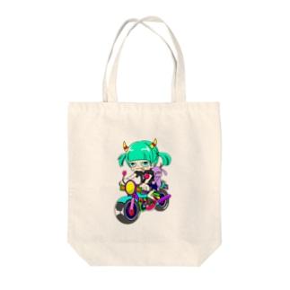 補助輪娘 Tote bags