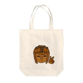 ピース埴輪 Tote bags