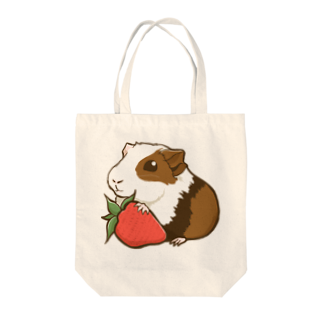 Lichtmuhleのイチゴ×モルモット Tote bags