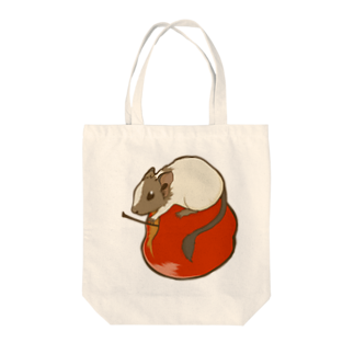 Lichtmuhleのリンゴ×デグー Tote bags