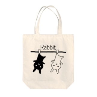 逆さウサギ Tote bags