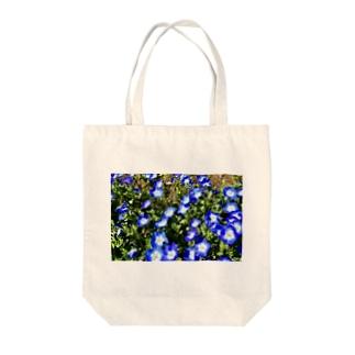 幸せの青い花 Tote bags