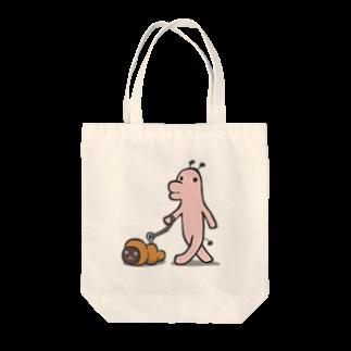 タキヲ@スタンプ販売「どうぶつくん」のどうぶつくん(さんぽ) Tote bags