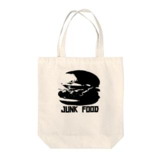 JUNK FOOD Tote bags