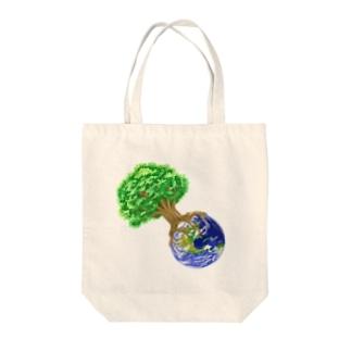 世界樹地球 Tote bags