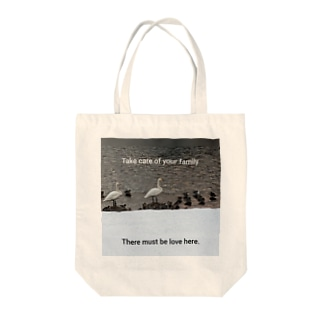 the parents and children of a swan Tote bags