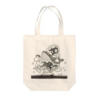 ゆめくじら(モノトーン) Tote bags
