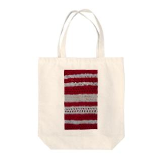 赤いヨコシマ Tote bags
