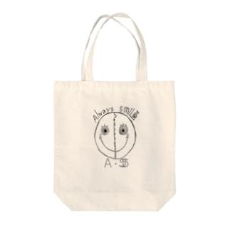 always smile Tote bags