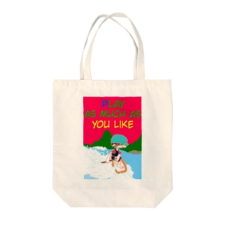 PLAY AS MUCH AS YOU LIKE SUP Tote bags