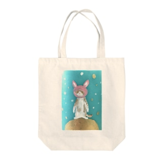 space travel cat Tote bags