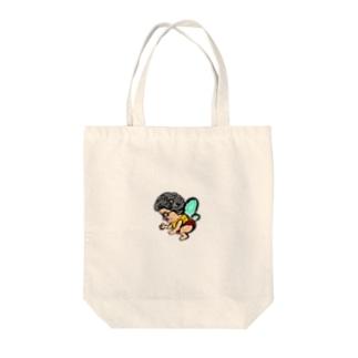 ハッちゃん Tote bags