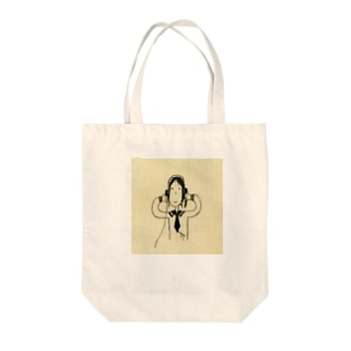 おにゃのこheadphone Tote bags