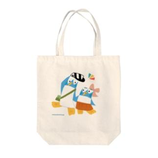 ペンギンシリーズ「ペンギン君とペンギンちゃん」 Tote bags