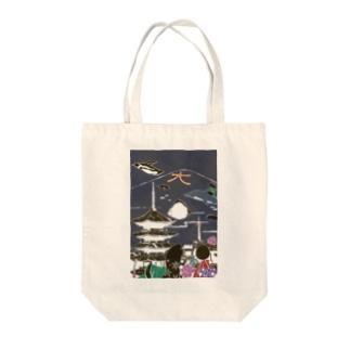 京都 東寺 Tote bags