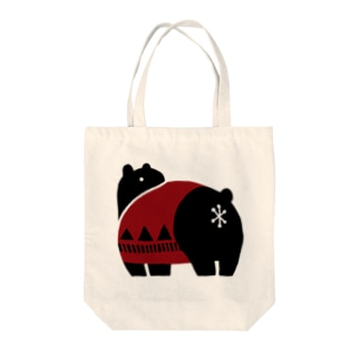ふりむきクマ Tote bags