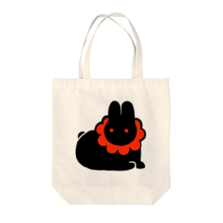 おすわりうさぎ Tote bags
