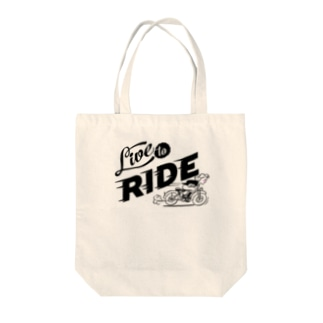 LIVE TO RIDE Tote bags