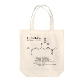 ニトログリセリン:爆発・爆薬:化学:化学構造・分子式 Tote bags