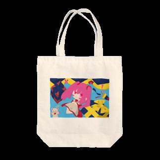 銀猫@絵垢+ご依頼受付中のプレゼントと女の子 Tote bags