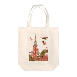 東京 東京タワー Tote bags