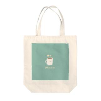 マグカップさん Tote bags