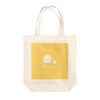 プレート親子 Tote bags