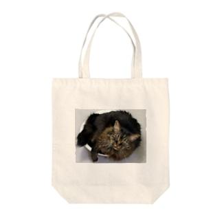 洗面器ネコ Tote bags